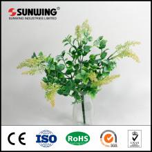 proveedor de china barato a prueba de fuego hoja verde artificial para la decoración