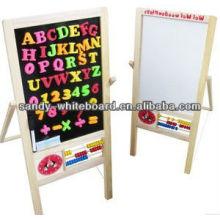 Wood Frame Whiteboard black slate chalk boards magnetic blackboard kitchen