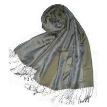Mantón de seda largo de la manera del color sólido