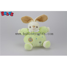 """5.9""""Safety Toddle Toys Plush Green Rabbit Bunny Baby Toy with Ring Rattle"""