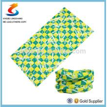 100% Polyester green Multifunctional tube seamless sport headwear scarf ,bandana