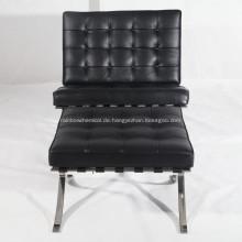 Knoll Barcelona Leder Lounge Stuhl Reproduktion