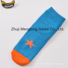 Gosse mignon bonne qualité coton chaussettes avec des motifs fantaisies