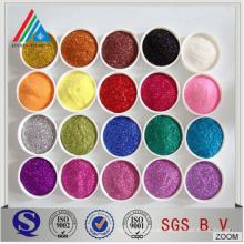 Hochwertige verschiedene Größe & Farbe Metallisierte PET Film Glitter Pulver