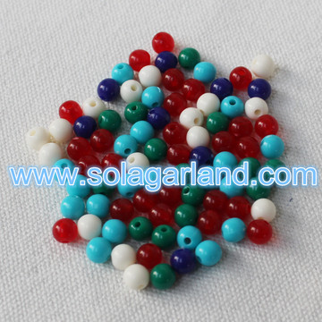 6MM Acrylic Round Chunky Gumball Beads Loose Chunky Round Beads Charms