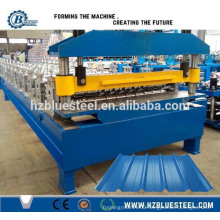 Steel Trapezoidal Profile Roof Sheet Panel Roll Forming Machine, Metal Wall Cladding Sheet Forming Making Machine