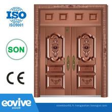 Villa double panneau design portes de fer
