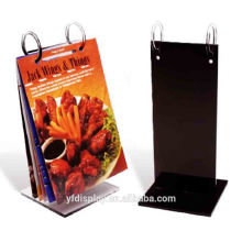 Black Acrylic Table Menu Holder