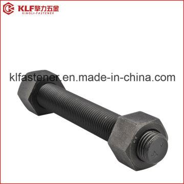 Parafusos de fixação / Roscas roscadas ASTM A193-B7 com porca hexagonal A194 2h