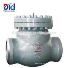 Pompe à eau de clapet anti-retour de puits soudé bout à bout de balles Wcb de style Y de plaquettes en ligne à haute pression