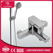 square shower set durable copper brass bath shower sets