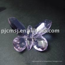 Новый дизайн - Роман фиолетовый кристалл бабочки для подарков.кристалл животных 2015