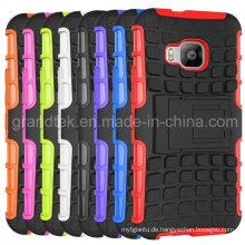 Klappständer Hybrid Combo Case für HTC One M9 Handyhülle