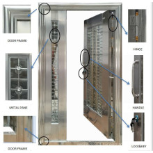 High Quality New Design Glass Stainless Door