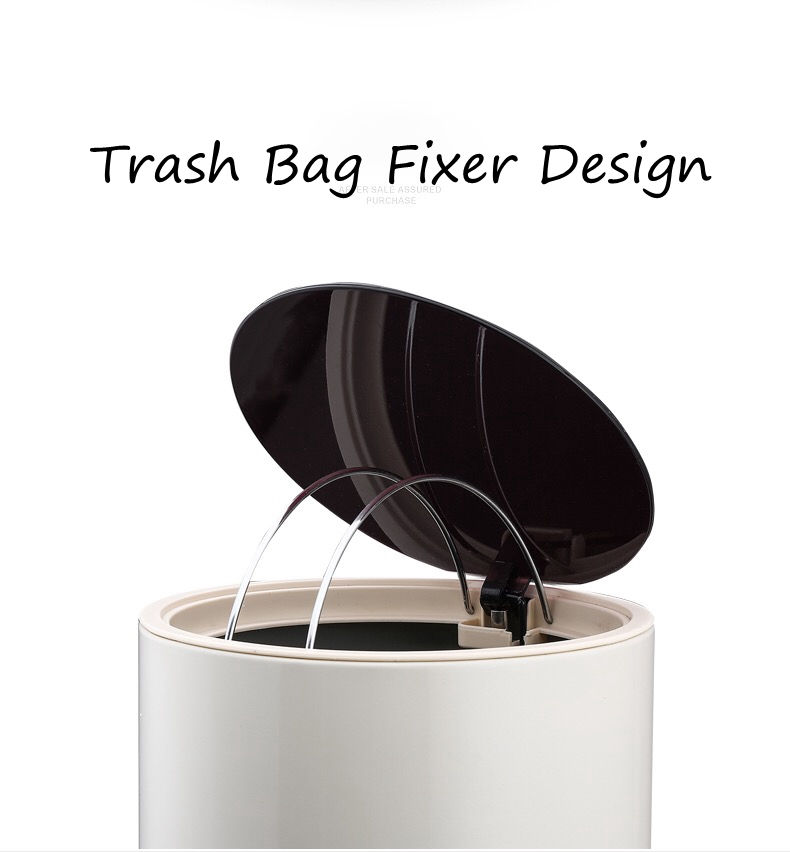 Trash Can with Trash Bag Fixer