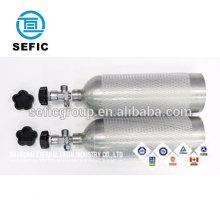 aluminum/steel 4L 5L 8L co2 gas cylinder for drink, beer, beverage samples accepted
