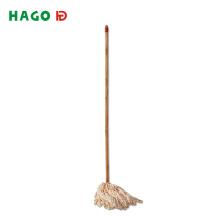 Cheap Microfiber Floor Wet Mop with Wooden Stick
