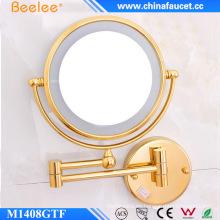 Espejo de salón ajustable brillante montado en la pared de doble cara