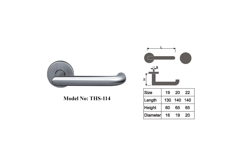 Stainless Steel Door Handles easy to install