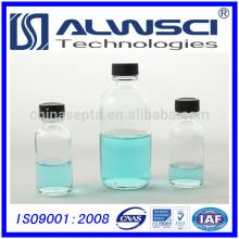 30 ml de bouteille de verre rond en stock pharmaceutique