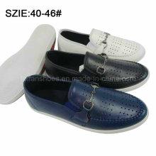 Deslizamento dos homens novos do estilo em sapatas de couro ocasionais respiráveis (MP16721-14)
