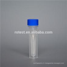 Fournitures de laboratoire de chimie tube de 0,5 ml cryo