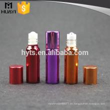 Rollo de plástico 4ml en botella vacía con desodorante y recubrimiento UV