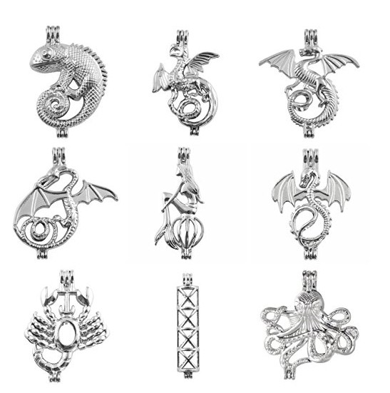Alloy Locket Pendants