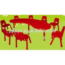 2016 nuevo artículo para la tabla plástica de los niños y la silla fijaron la tabla redonda