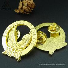 Hot produtos liga de fundição de ouro chapeado personalizado lapela águia emblema em artesanato de metal