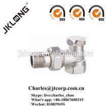 Válvula de retención de latón de detención con válvula de ángulo plateada de níquel