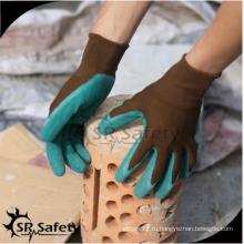SRSAFETY дешевая цена / морщинистый латекс с покрытием износостойкие рабочие перчатки / перчатки