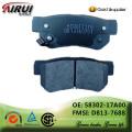 Scheibenbremsbeläge, OE Qualität, Hersteller heiße Verkäufe Selbstteile (OE: 58302-17A00 / FMSI: D813-7688)