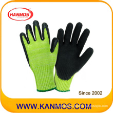 Cut Resistant Hppe Industrial Safety Latex Work Gloves (52202HP)
