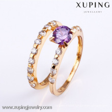 11478-Xuping Gold Plated Couple Forever Loves Wedding Set Ring