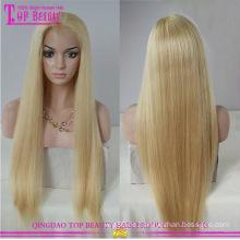 Großhandel blonde brasilianische Haare volle Spitze Perücke heißer Verkauf blondes Echthaar volle Spitze Perücke Fabrik Direktversorgung blonde Perücke