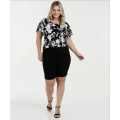 OEM Ladies Fashion Plus Size Kurzarmbluse