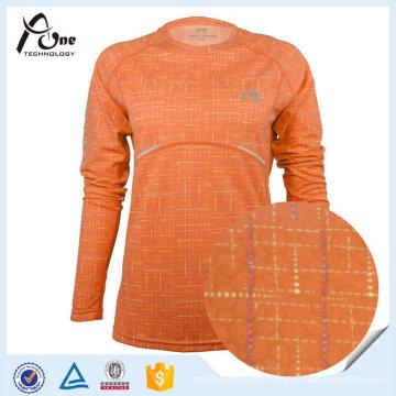 Moisture Creative Women Wholesale 100% Polyester Running Shirt