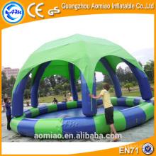 Piscinas infláveis de PVC durável com cobertura, piscina inflável malásia
