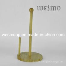 Sostenedor del rollo de la toalla de papel de bambú (wbb0337a)