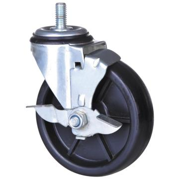 4 tums PP Swivel Caster med broms