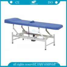 Chaise de salle d'examen en acier inoxydable AG-ECC07 avec matelas en éponge douce de 5 cm