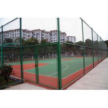 Green PVC Coated Diamond Fence For Stadium