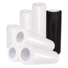 China Manufacturer Low Pric Compostable Plastic Lldpe Blac Transparent Color Hand Pallet Hood Jumbo Wrap Pe Stretch Film Roll