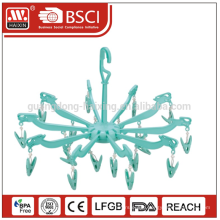 Hotsales Wholesale cheap plastic Clothes Hanger with clips