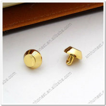 Real gold cone rivets