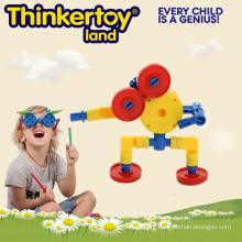 Геометрическая красочная жесткая пластиковая игрушка для комнатных роботов