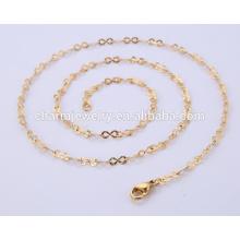 Vente en gros Dernier collier de bijoux en acier inoxydable Chaîne en or BSL004-3