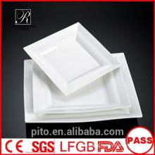 P&T ceramics factory,porcelain dinner plates, square white plates, main plates