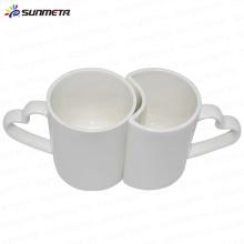 A melhor qualidade venda quente bonito diretamente a sublimação da fábrica revestiu as canecas brancas imprimíveis do par para a venda